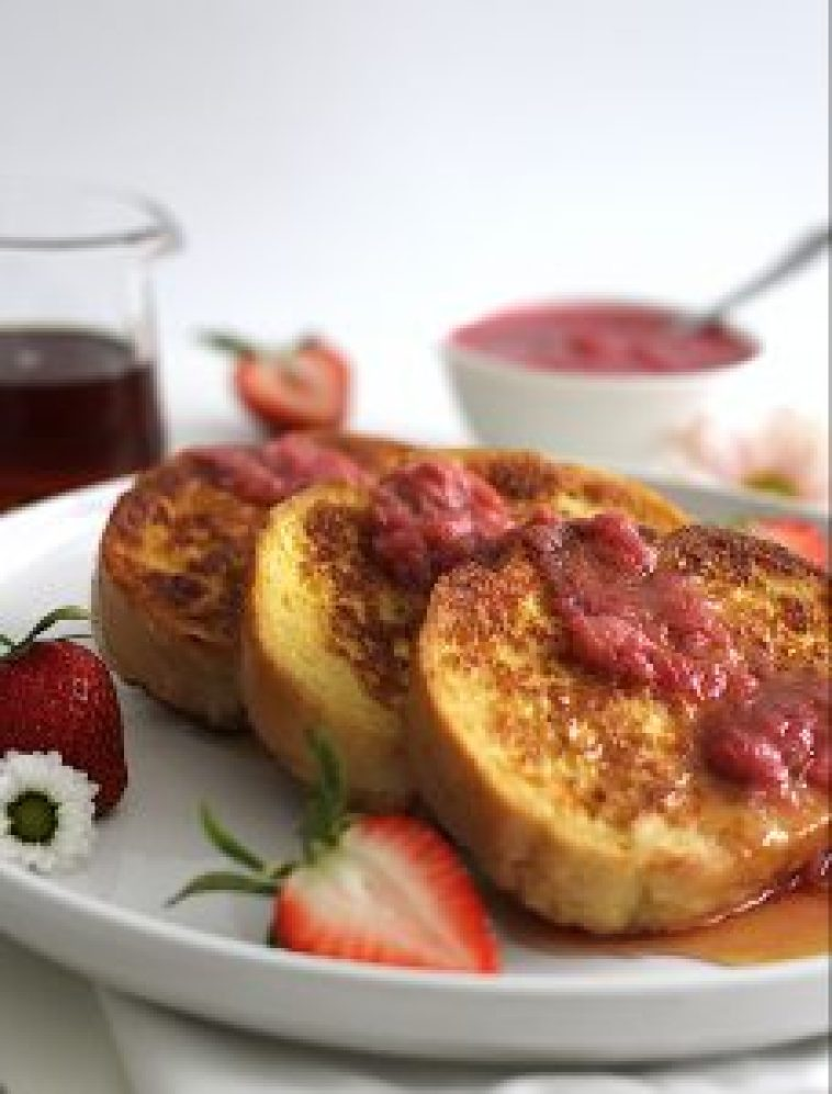 Rhubarb French Toast - Season and Serve Blog