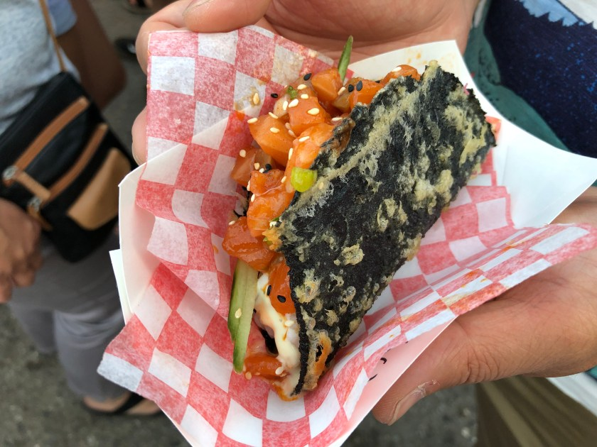 Spicy Salmon Nori Taco from Nori Express