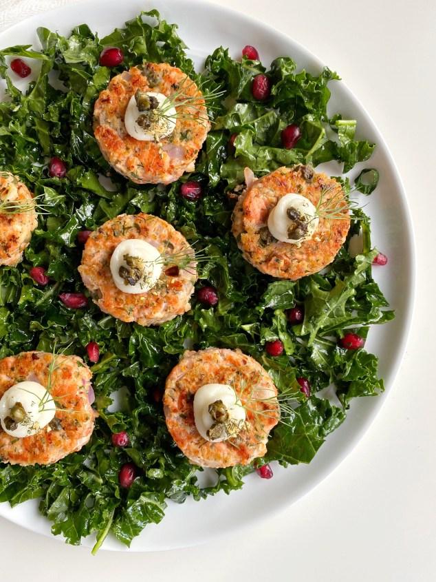 Mini Salmon Sliders with Garlic Aioli - Season & Serve Blog