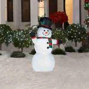 Outdoor Light Up Snowman Holiday Dcor Season Charm