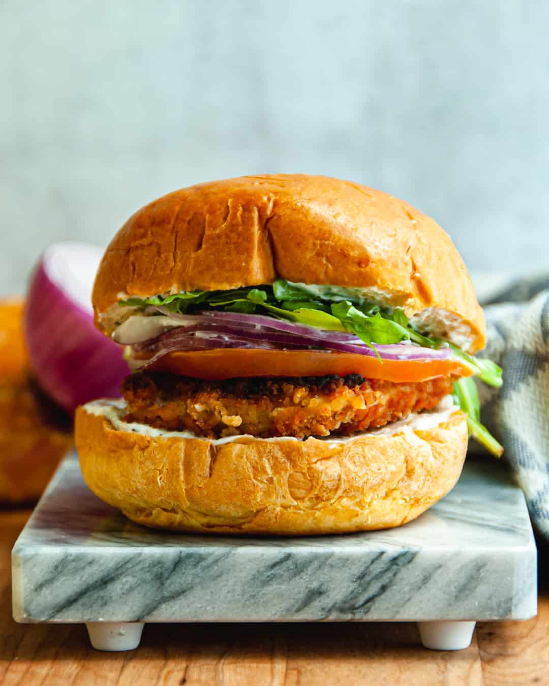 "Healthy ""Fried"" Chicken Sandwich"