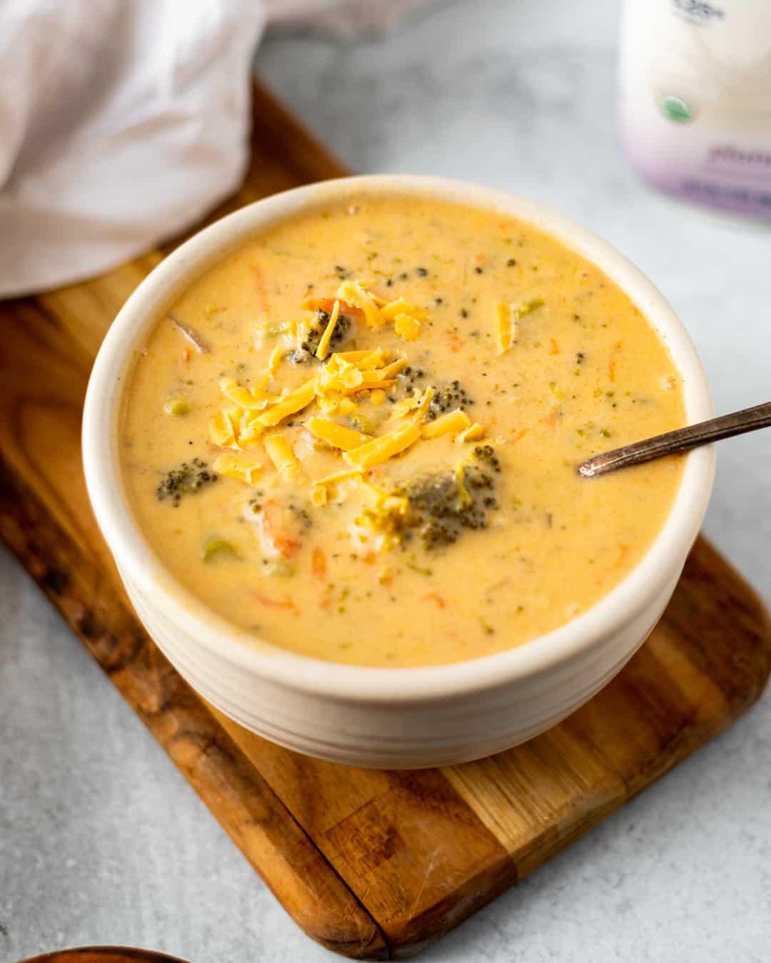 Healthy Broccoli Cheddar Soup