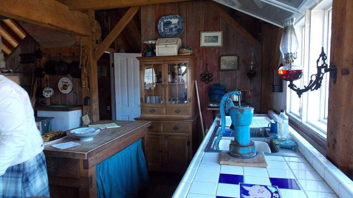 This Picture Shows The Tiled Counter Tops, Pitcher Pump And The Ever  Present Oil Lamp. After A Sip Of Hot Apple Cider And A Bit Of That  Delicious Squash ...