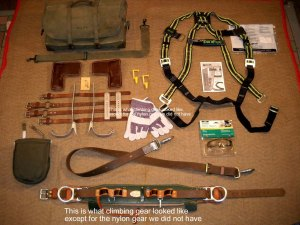 US Army Signal Linesmans Climbing Gear