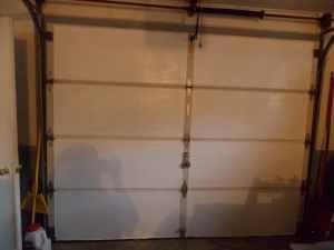 DIY Garage Door Insulation Completed.