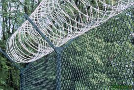 barbed wire above chain link