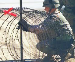 barbed wire solder