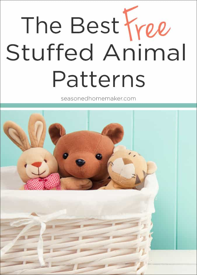 The cutest stuffed animal sewing patterns to download