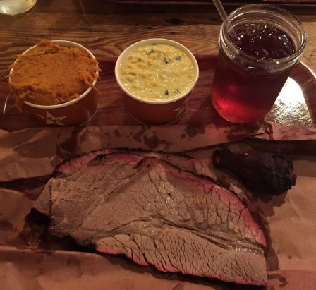 Hill Country brisket dinner