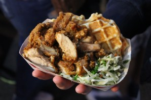 korean american chicken and waffles