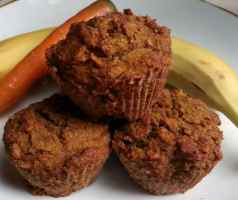 Recipe: Guiltless, delicious vegan carrot-banana muffins