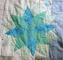Sewing a sixteen-point star