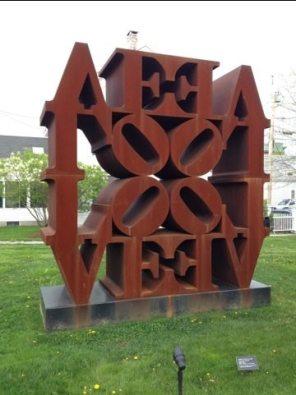 Robert Indiana sculpture.
