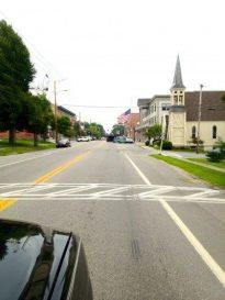 Driving into Thomaston Maine