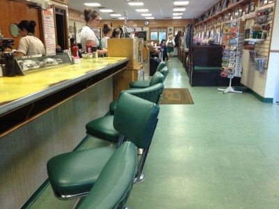 Inside view of Moody's Diner