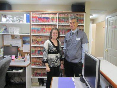 Dr. Medina and Meredith Batley (Executive Director)