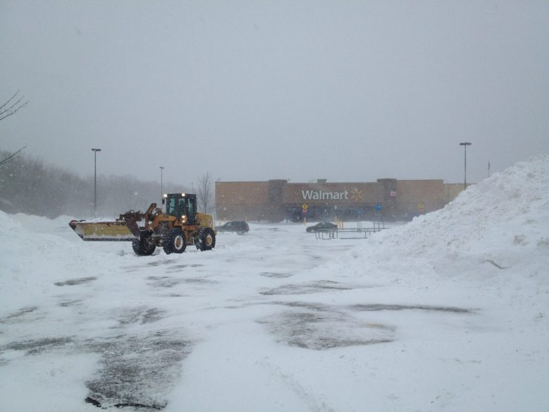 Is Walmart in Rockland Maine open? The snowplow was out cleaning up, parking lot looked empty. But wait! there are two cars! They were open!!!