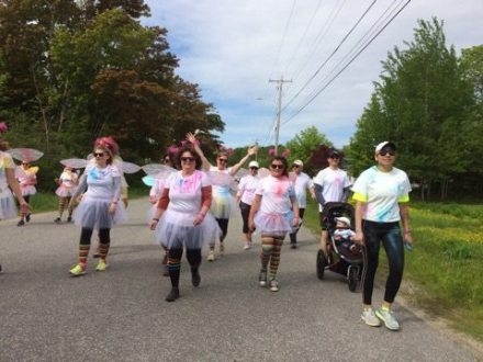 The start of the color run, Rockport Maine