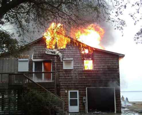 duck house fire before landscaping