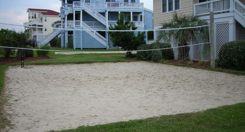 Outdoor Sand Volleyball Court Installation on the Outer Banks