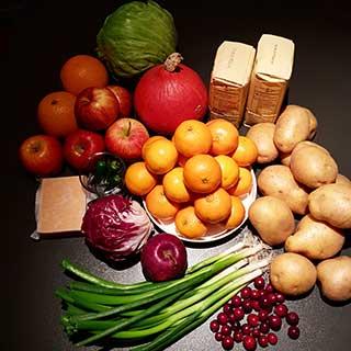 Thanksgiving fruit and veg