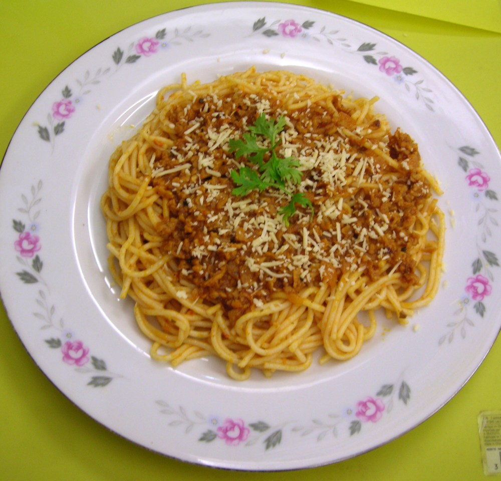Spaghetti Bolognese, except its completely vegetarian!