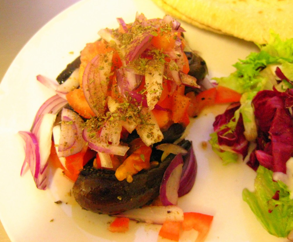 Fried Baby Eggplant with Salad (5/6)