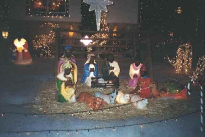Outdoor Lighted Nativity Scene Set General Foam Plastics Corp Christmas Decorations Illuminated Scenes Sets