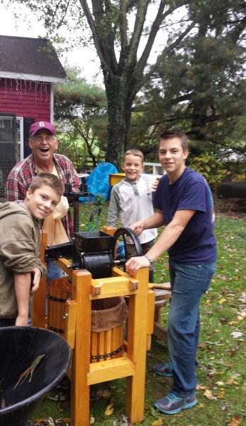 cider making with grandad