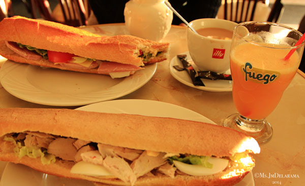 One of the best breakfast I had! Yes, we finished our individual sandwiches. The bread was so good!