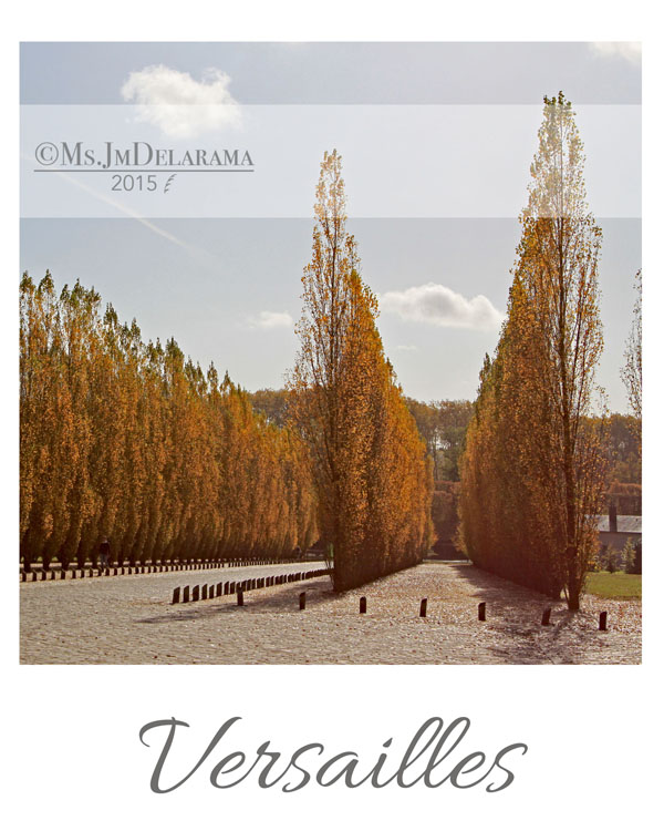versailles garden autumn photography