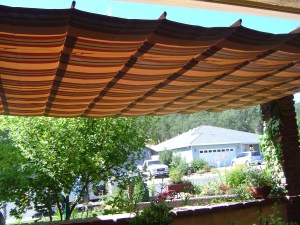 Inset Suspension Awning