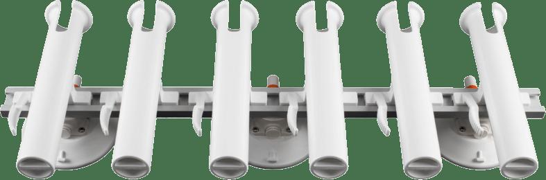 6 Rod Holder with three 152 mm Vacuum Mounts