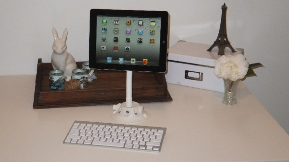 SeaSucker White iPad Galaxy Mount in study