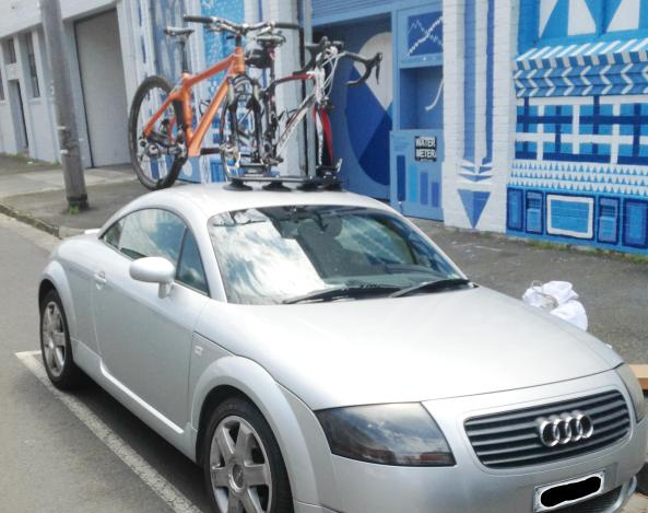 Audi TT Coupe front with Mini Bomber