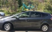 Toyota Prius and SeaSucker Bomber Bike Rack