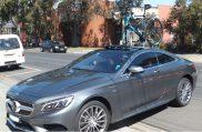 Mercedes Benz S500 with SeaSucker Mini Bomber Bike Rack