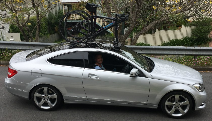 Mercedes Benz C250 Bike Rack - SeaSucker Mini Bomber