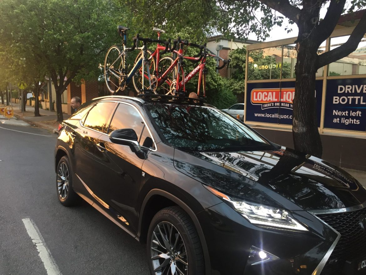 Lexus RX350 Bike Rack - the SeaSucker Bomber 3 bike rack