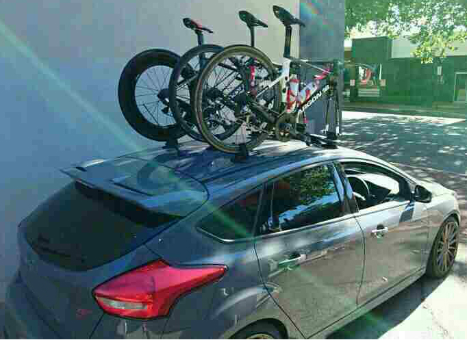 Ford Focus ST Bike Rack - The SeaSucker Bomber