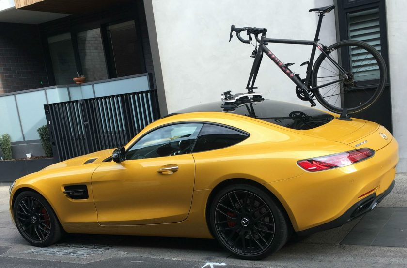 Mercedes AMG GTs Bike Rack - The SeaSucker Mini Bomber