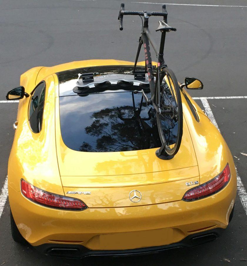 Mercedes AMG GTs Bike Rack - The SeaSucker Mini Bomber