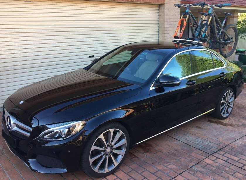 Mercedes C200 Bike Rack - The SeaSucker Mini Bomber