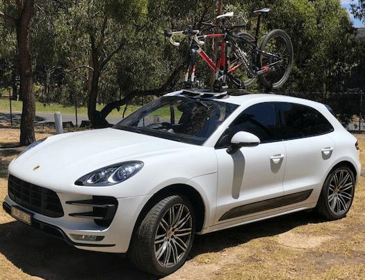 Porsche Cayenne Bike Rack - The SeaSucker Mini Bomber 2-Bike Rack