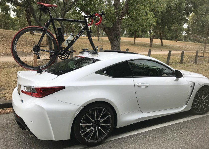 Lexus RCF Bike Rack - The SeaSucker Mini Bomber