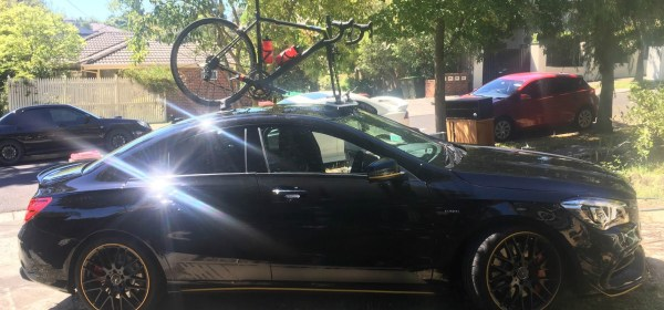 Mercedes A45 AMG Bike Rack - The SeaSucker Mini Bomber