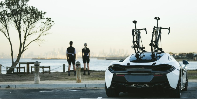 Bastion Cycles McLaren with SeaSucker Talon bay photo