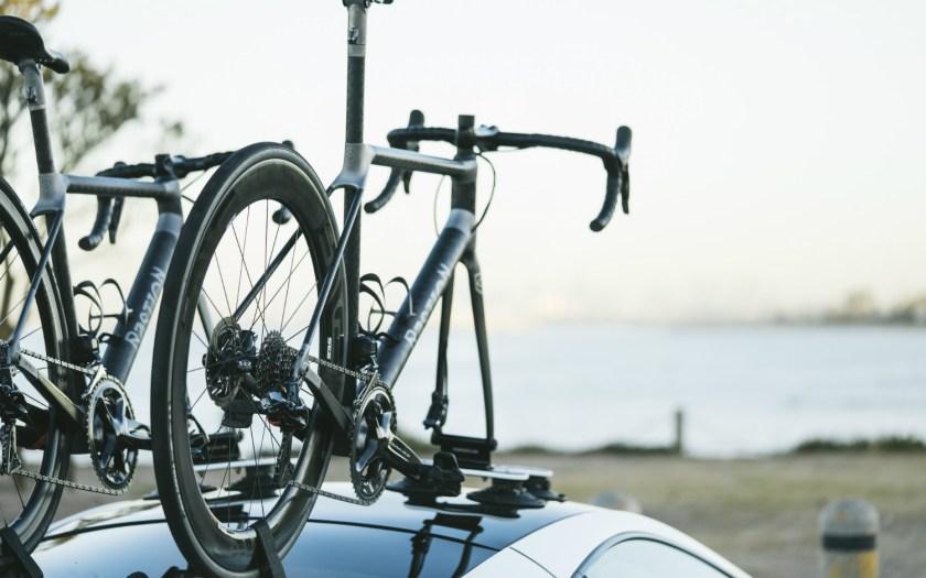 Close up of Bastion Cycles bespoke bike with SeaSucker Talon