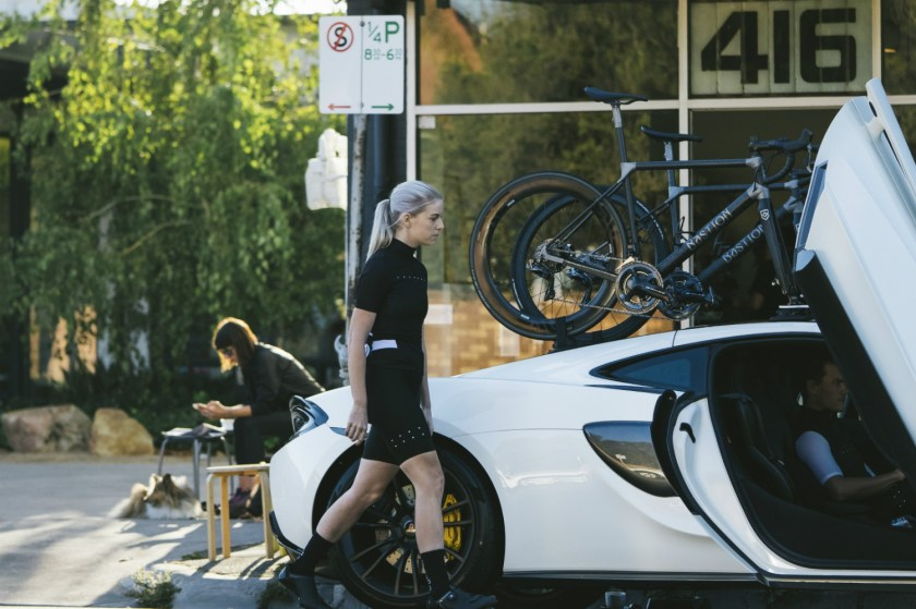 Bastion Cycles McLaren with SeaSucker Talon Cafe shot
