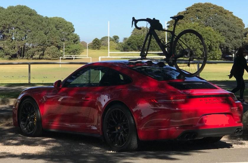 Porsche Carrera GTS Bike Rack - The SeaSucker Mini Bomber